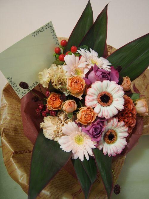 花ギフト|フラワーギフト|誕生日 花|カノシェ話題|スタンド花|ウエディングブーケ|花束|花屋|58621