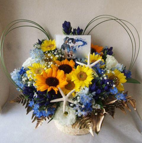 花ギフト|フラワーギフト|誕生日 花|カノシェ話題|スタンド花|ウエディングブーケ|花束|花屋|57452