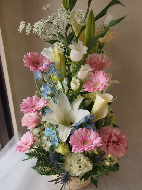 花ギフト|フラワーギフト|誕生日 花|カノシェ話題|スタンド花|ウエディングブーケ|花束|花屋|54547