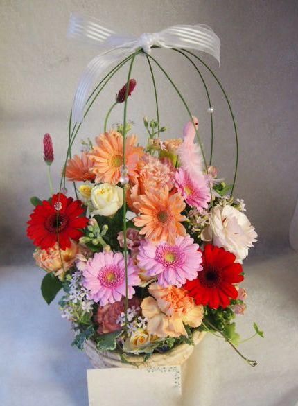 花ギフト|フラワーギフト|誕生日 花|カノシェ話題|スタンド花|ウエディングブーケ|花束|花屋|54671