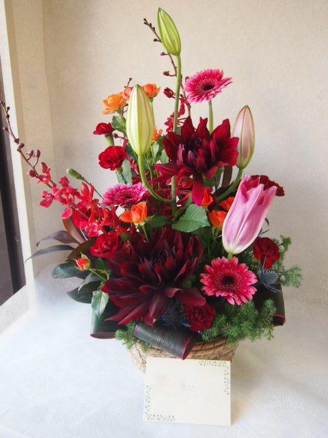 花ギフト|フラワーギフト|誕生日 花|カノシェ話題|スタンド花|ウエディングブーケ|花束|花屋|52376