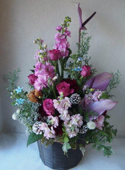 花ギフト|フラワーギフト|誕生日 花|カノシェ話題|スタンド花|ウエディングブーケ|花束|花屋|52769