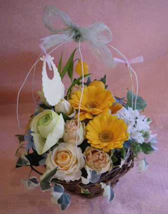 花ギフト フラワーギフト 誕生日 花 カノシェ話題 スタンド花 ウエディングブーケ 花束 花屋 baby