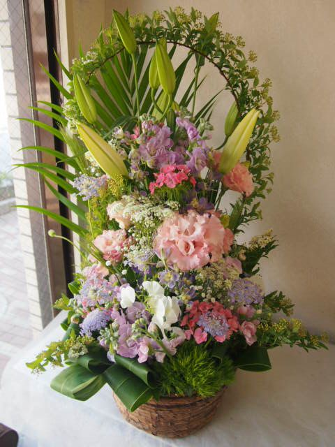 花ギフト|フラワーギフト|誕生日 花|カノシェ話題|スタンド花|ウエディングブーケ|花束|花屋|55066