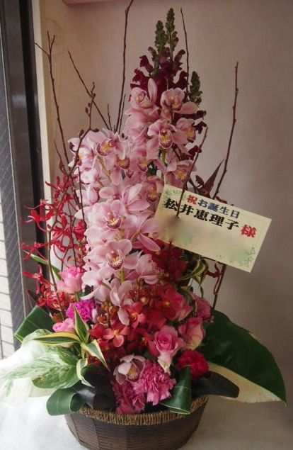 花ギフト|フラワーギフト|誕生日 花|カノシェ話題|スタンド花|ウエディングブーケ|花束|花屋|モダン3  シンプルアレンジ