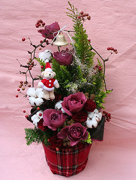 花ギフト|フラワーギフト|誕生日 花|カノシェ話題|スタンド花|ウエディングブーケ|花束|花屋|2011xmas_a_03