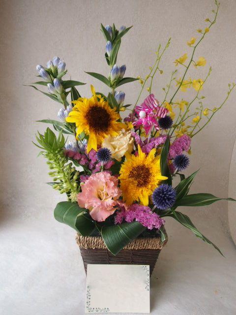 花ギフト|フラワーギフト|誕生日 花|カノシェ話題|スタンド花|ウエディングブーケ|花束|花屋|49592