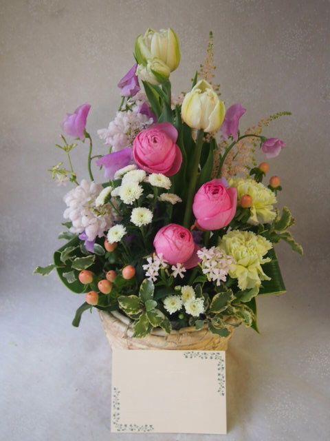 花ギフト|フラワーギフト|誕生日 花|カノシェ話題|スタンド花|ウエディングブーケ|花束|花屋|54411
