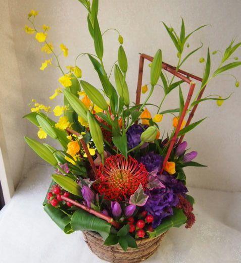 花ギフト|フラワーギフト|誕生日 花|カノシェ話題|スタンド花|ウエディングブーケ|花束|花屋|58443