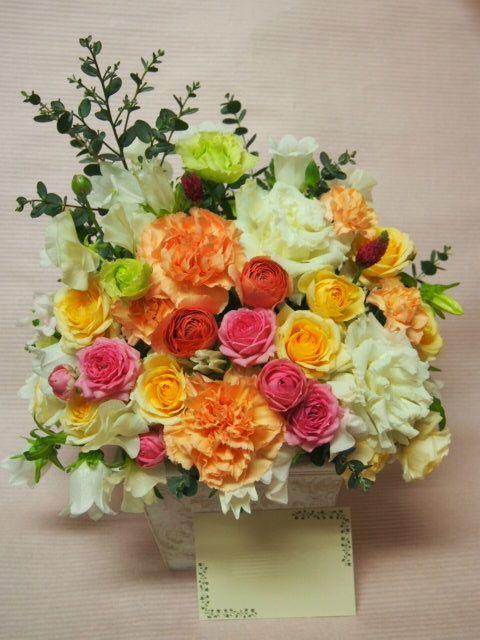 花ギフト|フラワーギフト|誕生日 花|カノシェ話題|スタンド花|ウエディングブーケ|花束|花屋|53523