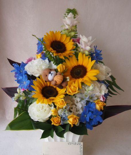 花ギフト|フラワーギフト|誕生日 花|カノシェ話題|スタンド花|ウエディングブーケ|花束|花屋|41834