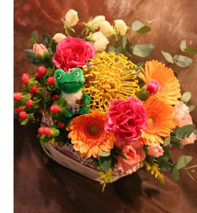 花ギフト|フラワーギフト|誕生日 花|カノシェ話題|スタンド花|ウエディングブーケ|花束|花屋|カエル