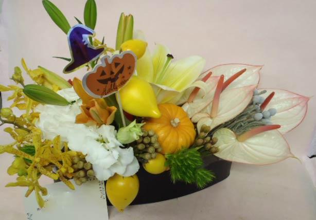 花ギフト|フラワーギフト|誕生日 花|カノシェ話題|スタンド花|ウエディングブーケ|花束|花屋|じゅん ハロウィン