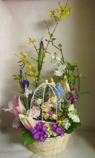 花ギフト|フラワーギフト|誕生日 花|カノシェ話題|スタンド花|ウエディングブーケ|花束|花屋|46555(1)