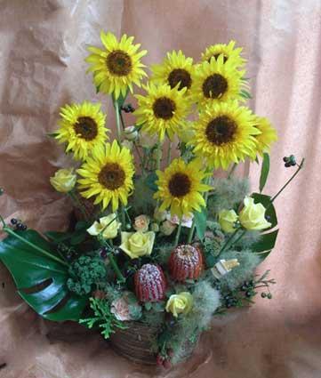 花ギフト|フラワーギフト|誕生日 花|カノシェ話題|スタンド花|ウエディングブーケ|花束|花屋|こうじ ひまわり