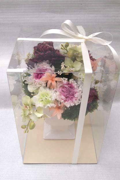 花ギフト フラワーギフト 誕生日 花 カノシェ話題 スタンド花 ウエディングブーケ 花束 花屋 48559