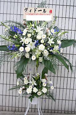 花ギフト フラワーギフト 誕生日 花 カノシェ話題 スタンド花 ウエディングブーケ 花束 花屋 白2段
