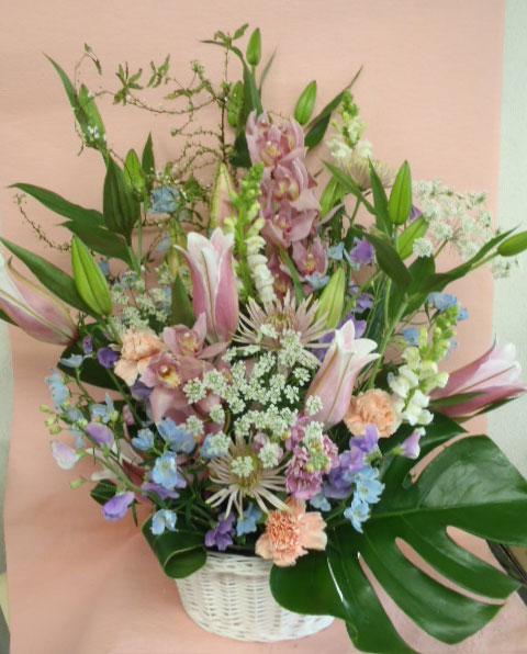 花ギフト|フラワーギフト|誕生日 花|カノシェ話題|スタンド花|ウエディングブーケ|花束|花屋|ピンクブルー