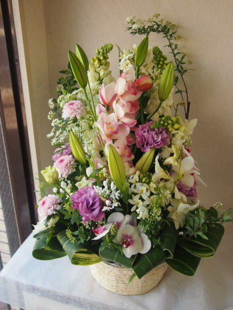 花ギフト|フラワーギフト|誕生日 花|カノシェ話題|スタンド花|ウエディングブーケ|花束|花屋|53697