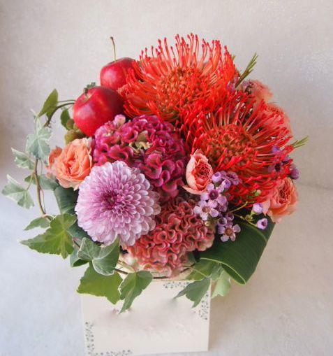 花ギフト|フラワーギフト|誕生日 花|カノシェ話題|スタンド花|ウエディングブーケ|花束|花屋|50756