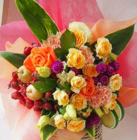 花ギフト|フラワーギフト|誕生日 花|カノシェ話題|スタンド花|ウエディングブーケ|花束|花屋|50532