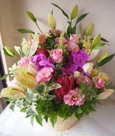 花ギフト|フラワーギフト|誕生日 花|カノシェ話題|スタンド花|ウエディングブーケ|花束|花屋|49273
