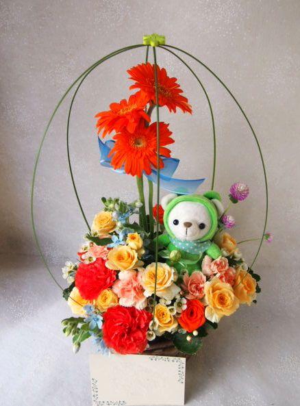 花ギフト|フラワーギフト|誕生日 花|カノシェ話題|スタンド花|ウエディングブーケ|花束|花屋|58133