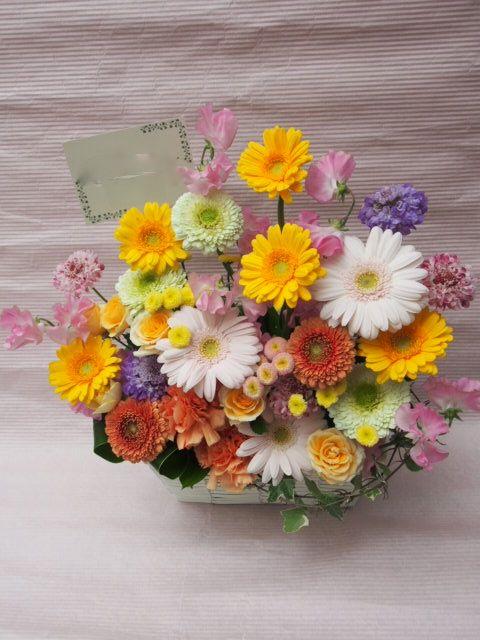 花ギフト|フラワーギフト|誕生日 花|カノシェ話題|スタンド花|ウエディングブーケ|花束|花屋|53877