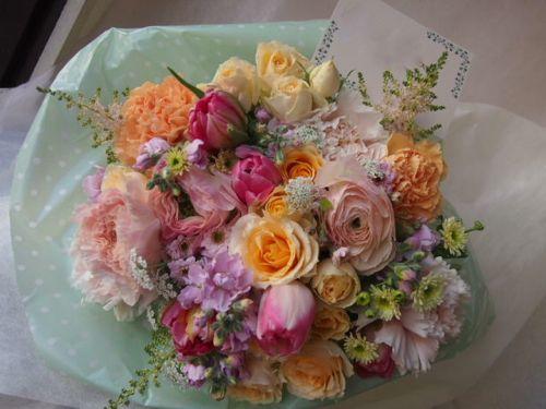 花ギフト|フラワーギフト|誕生日 花|カノシェ話題|スタンド花|ウエディングブーケ|花束|花屋|46295(1)