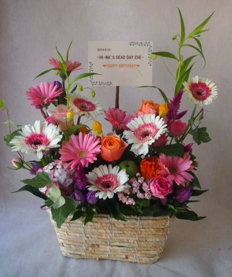 花ギフト|フラワーギフト|誕生日 花|カノシェ話題|スタンド花|ウエディングブーケ|花束|花屋|42792(1)