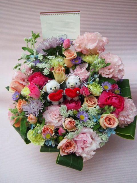花ギフト|フラワーギフト|誕生日 花|カノシェ話題|スタンド花|ウエディングブーケ|花束|花屋|51879