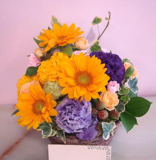 花ギフト|フラワーギフト|誕生日 花|カノシェ話題|スタンド花|ウエディングブーケ|花束|花屋|P6280518(1)