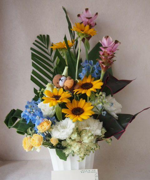 花ギフト|フラワーギフト|誕生日 花|カノシェ話題|スタンド花|ウエディングブーケ|花束|花屋|42306