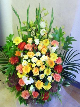 花ギフト|フラワーギフト|誕生日 花|カノシェ話題|スタンド花|ウエディングブーケ|花束|花屋|黄色オレンジ