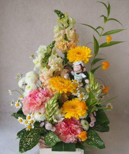 花ギフト|フラワーギフト|誕生日 花|カノシェ話題|スタンド花|ウエディングブーケ|花束|花屋|47667