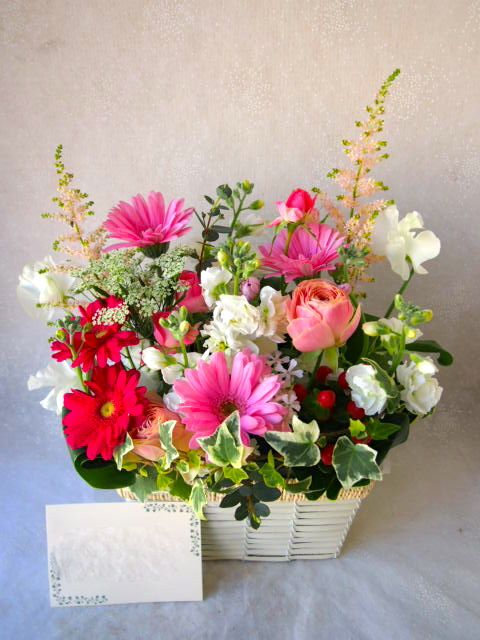花ギフト|フラワーギフト|誕生日 花|カノシェ話題|スタンド花|ウエディングブーケ|花束|花屋|54217