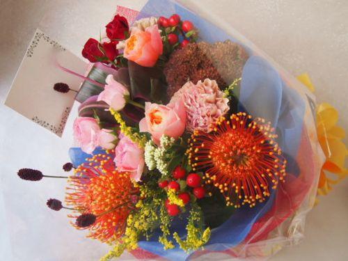 花ギフト|フラワーギフト|誕生日 花|カノシェ話題|スタンド花|ウエディングブーケ|花束|花屋|51011