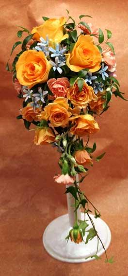 花ギフト|フラワーギフト|誕生日 花|カノシェ話題|スタンド花|ウエディングブーケ|花束|花屋|松本さん オレンジ