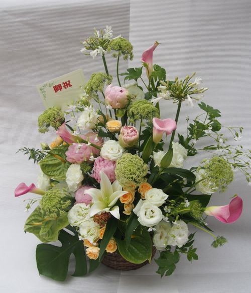 花ギフト|フラワーギフト|誕生日 花|カノシェ話題|スタンド花|ウエディングブーケ|花束|花屋|56124