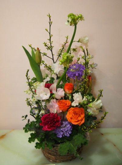 花ギフト|フラワーギフト|誕生日 花|カノシェ話題|スタンド花|ウエディングブーケ|花束|花屋|53495