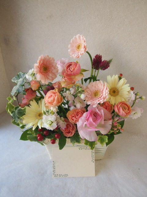 花ギフト|フラワーギフト|誕生日 花|カノシェ話題|スタンド花|ウエディングブーケ|花束|花屋|53005(1)
