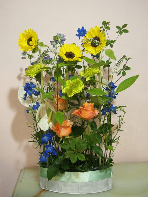 花ギフト|フラワーギフト|誕生日 花|カノシェ話題|スタンド花|ウエディングブーケ|花束|花屋|P7130712