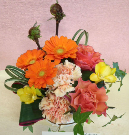 花ギフト フラワーギフト 誕生日 花 カノシェ話題 スタンド花 ウエディングブーケ 花束 花屋 ayumi-or