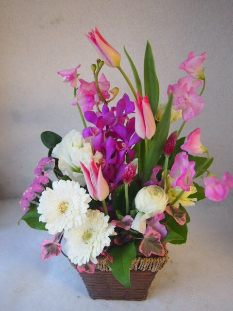 花ギフト|フラワーギフト|誕生日 花|カノシェ話題|スタンド花|ウエディングブーケ|花束|花屋|53103