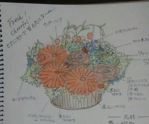 花ギフト|フラワーギフト|誕生日 花|カノシェ話題|スタンド花|ウエディングブーケ|花束|花屋|DSC_0087(1)
