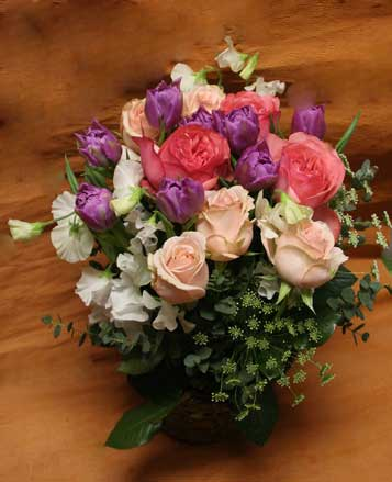花ギフト|フラワーギフト|誕生日 花|カノシェ話題|スタンド花|ウエディングブーケ|花束|花屋|紫八重