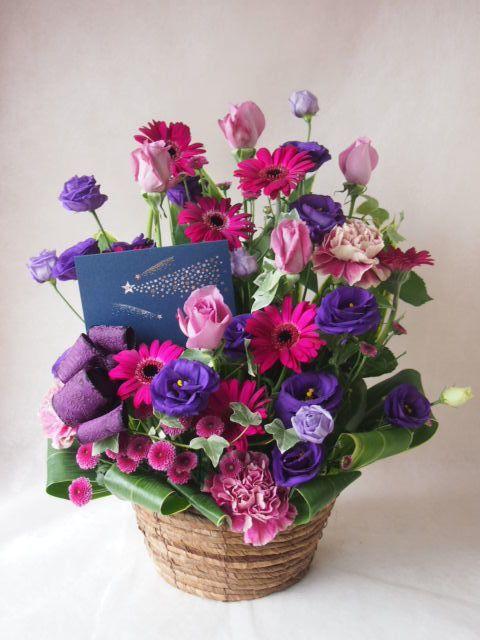 花ギフト フラワーギフト 誕生日 花 カノシェ話題 スタンド花 ウエディングブーケ 花束 花屋 42435