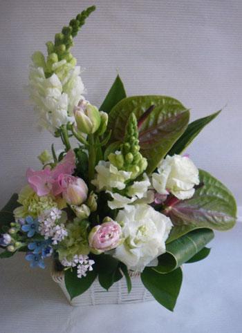 花ギフト フラワーギフト 誕生日 花 カノシェ話題 スタンド花 ウエディングブーケ 花束 花屋 ansusawa