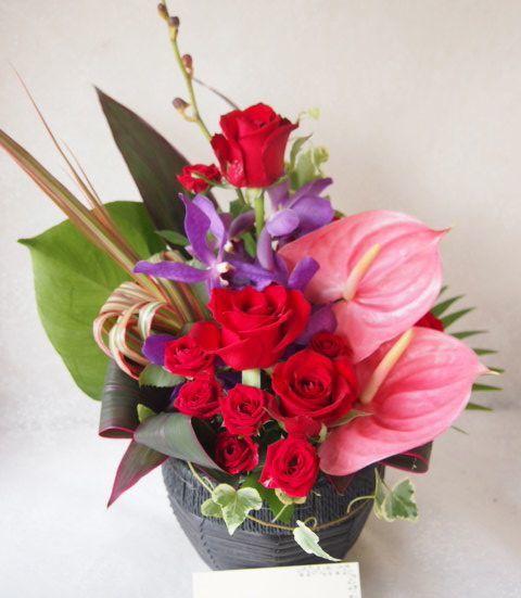 花ギフト|フラワーギフト|誕生日 花|カノシェ話題|スタンド花|ウエディングブーケ|花束|花屋|57715
