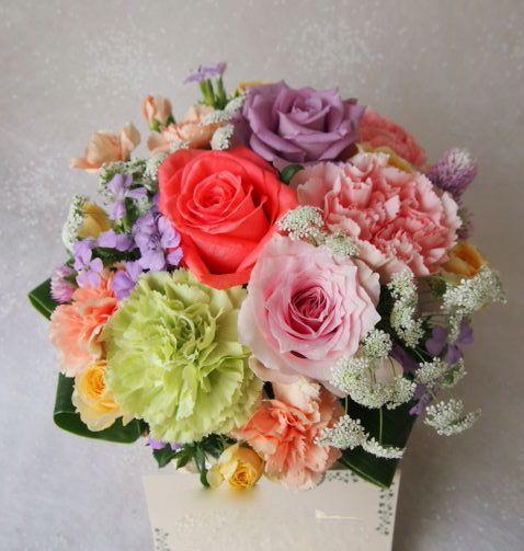 花ギフト|フラワーギフト|誕生日 花|カノシェ話題|スタンド花|ウエディングブーケ|花束|花屋|58138